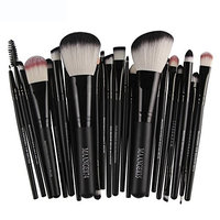 Chartsea 22 Piece Makeup Brushes Set Premium Kabuki Brushes Synthetic Foundation Blending Blush Face Eyeliner Shadow Brow Concealer Lip Brush Tool Beauty Collection Cosmetic Brushes Kit (Black)