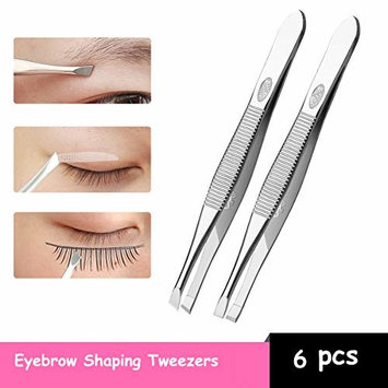 CBD Stainless Steel Eyebrow Tweezers Clips Eyebrow Slanted Hair Removal Makeup Tools