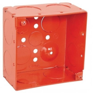 4 Inch Square 2-1/8 Inch Deep Red Box-5 per case