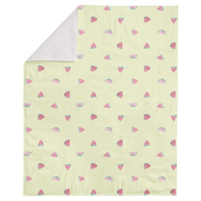 Aloha Waltermelon Printed Minky Blanket by Oliver Gal