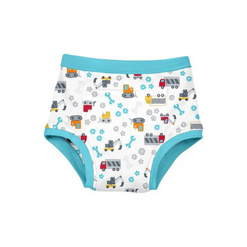 Green Sprouts Reusable Absorbent Training Underwear, Aqua Construction, 18 Months