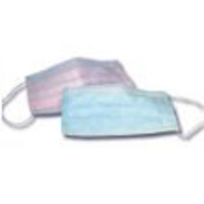 Disposable BLUE Earloop Face Mask, Filters Bacteria 3 PLY 50/bx