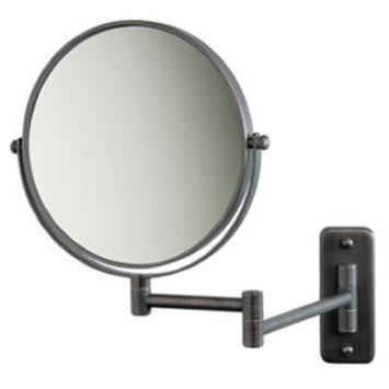 SeeAll 8 Makeup Vanity Mirror, Oil-Rubbed Bronze, Dual Arm, Wall Mount, 5X Optics by SeeAll