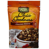 Natures Earthly Choice Nature's Earthly Choice Chia Goodness Chocolate Almond Superfood Cereal, 12 oz, (Pack of 6)