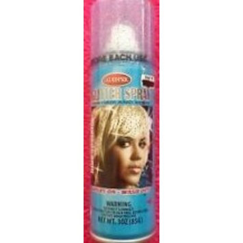 Blue Sparkle Glitter Temporary Hair Color 3 oz. - Spray on -- Wash Out! by Goodmark