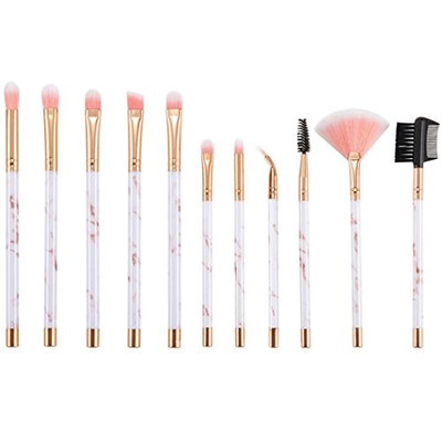 Kim88 Makeup Brushing Suit 11Pcs Marble Eye Brush Eyelash Blush Brush Makeup Tools