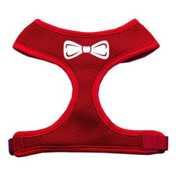 Bow Tie Screen Print Soft Mesh Harness Red Large