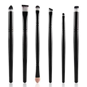 Leoy88 6Pcs Makeup Brush for Lip Eyeshadow Black