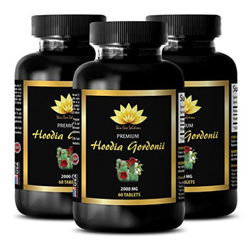 Belly fat burner for women - HOODIA GORDONII EXTRACT 2000mg - Increase energy - 3 Bottles 180 Tablets