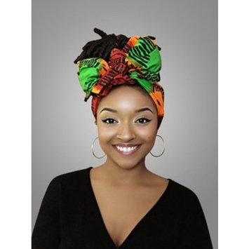 Red, Yellow & green African Headwrap - Kente Scarves, Ankara Headwraps, Kente Headwraps