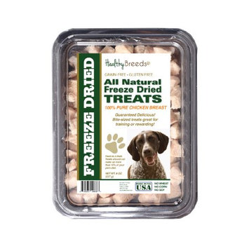 Healthy Breeds 840235146667 8 oz German Shorthaired Pointer All Natural Freeze Dried Treats Chicken Breast