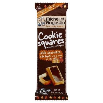 Michel Et Augustin Cookie Squares, Milk Chocolate & Caramel, 2.41 Oz