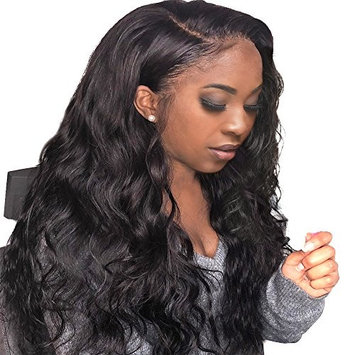 Human Hair Full Lace Wigs, Brazilian Virgin Hair Wigs With Baby Hair 150% Density Body Wave Full Lace Wigs For Black Women Natural Color FASHION PLUS Hair (20