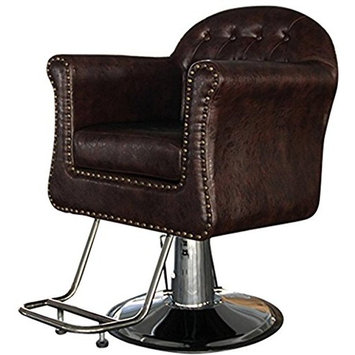 Funnylife Brown PU Material Vintage Salon Spa Beauty Barber Chair
