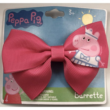 Peppa Pig Fabric Clip- On Bow Barrette For ages 3+, 1 Bow