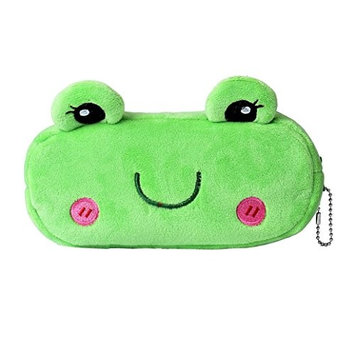 TRENDINAO Cute Cartoon Frog Pencil Makeup Case Plush Pen Cosmetic Bag For Child & Women & Girls