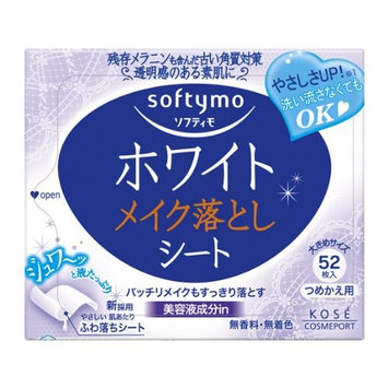 Kose Cosmeport Softymo Super Makeup Cleansing Sheet (White) - Refill 52 Sheet by Kose softymo