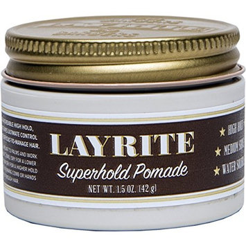 Layrite Superhold Pomade, 1.5 ounce