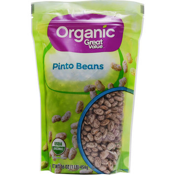 Great Value Organic Pinto Beans, 16 oz