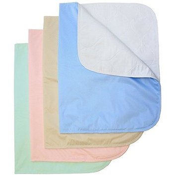 Washable Bed Pads / Reusable Incontinence Underpads 24x36 - 4 PACK - Blue, Green, Tan and Pink - Ideal For Children And Adults Wholesale Incontinence...
