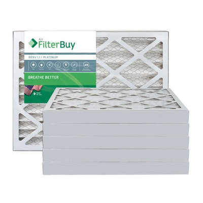 AFB Platinum MERV 13 20x25x2 Pleated AC Furnace Air Filter. Filters. 100% produced in the USA. (Pack of 6)