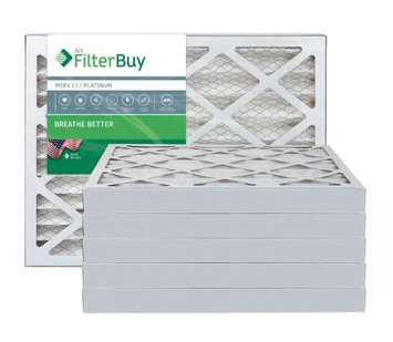 AFB Platinum MERV 13 13x21.5x2 Pleated AC Furnace Air Filter. Filters. 100% produced in the USA. (Pack of 6)