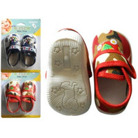 Familymaid Print Baby Shoes With Mushroom Sole(pack Of 24)