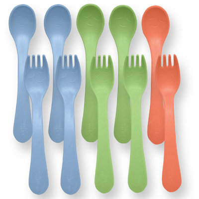Green Sprouts Toddler Utensils, Boys, 10 count