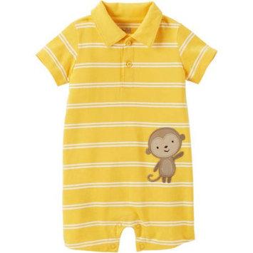 Child of Mine by Carter's Newborn Baby Boy Collared Romper