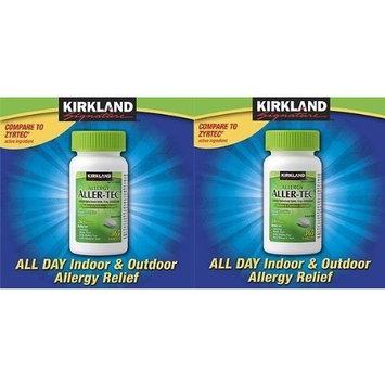 Kirkland Signature Aller-Tec Cetirizine HCL/ Antihistamine Tablets 10 mg, 365 Tablets Each (2 Pack)