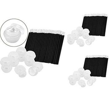 Jili Online Eye Lip Makeup Comestics kit Set - 150 Disposable Lip Brush Applicator Wand and 30 Empty Eye Cream Container Jar