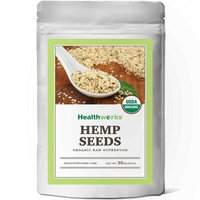 Healthworks Hemp Seeds Shelled Raw Organic, 2lb