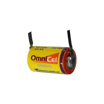 OmniCel ER14250 3.6V 1/2AA Lithium High Energy Battery Tabs Utility Telematics