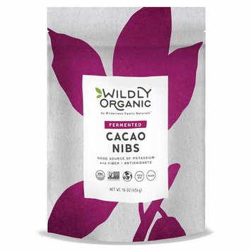 Wildly Organic Fermented Cacao Nibs, Non-GMO, Kosher, Vegan, Raw - 1 Pound [Cacao Nibs, Fermented]