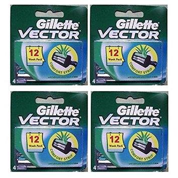 Vector Plus Refill Razor Blades 4 ct. (Pack of 4) + FREE LA Cross 71817 Tweezer