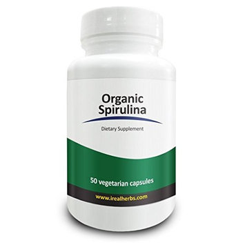 Real Herbs Spirulina Capsules - Highest Dosage Per Capsule - All the Benefits of Blue Green Algae Po
