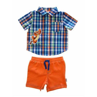 Disney Infant Boys Tigger Bounce Champion Plaid Shirt & Shorts Set 6-9 months