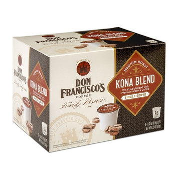 Don Francisco's Kona Blend, Premium 100% Arabica Coffee, Medium Roast, Single-Serve Pods for Keurig, 36-Count, Family Reserve