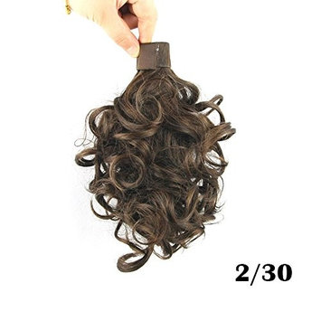 Hot Ladies Women Wrap Around Small Short Wavy Curly Clip in Ponytail Heat Resistant Synthetic Hair Extensions Hairpieces 11 inch