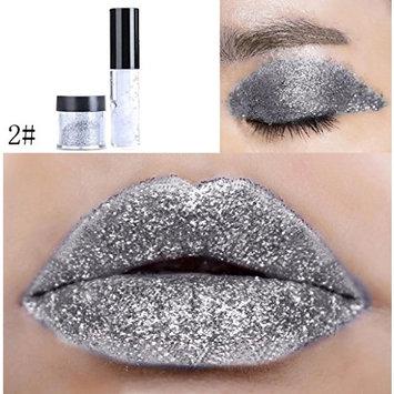 Dragon Ranee Shimmer Glitter Lip Gloss Powder Palette Glitter Lipstick Cosmetic Eye Shadow by DMZing (LE-02)
