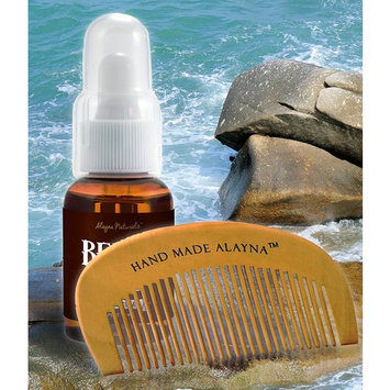 Alayna Organic Naturals Beard Oil and Leave-In Conditioner AND Hand Crafted Wooden Beard and..., Ship from USA,Brand Alayna (TM)