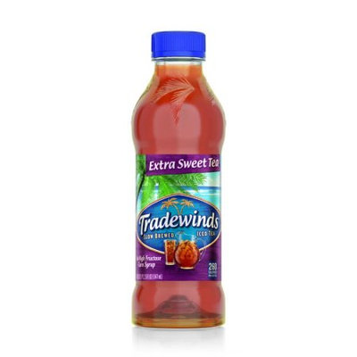 Tradewinds Slow Brewed Iced Tea, Extra Sweet Tea 18.5-ounce plastic bottles (Case of 12)
