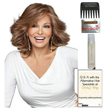 Goddess Wig by Raquel Welch, 15 Page Christy's Wigs Q & A Booklet, 2oz Travel Size Wig Shampoo, Wig Cap & Wide Tooth Comb COLOR SELECTED: SS1923