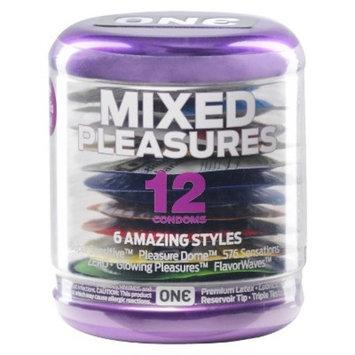 ONE Mixed Pleasures Condoms - 12 Count