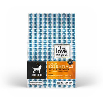 I and Love and You Kibble Naked Essentials with Chicken & Duck Dog Food - 4.0 lb