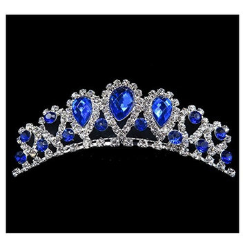 UDORA Flower Girl Crystal Tiara Kids Crowns Hair Jewelry Rhinestone Princess Headband for Wedding Party