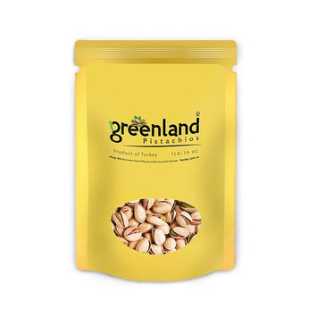 Greenland High Premium Salted and Roasted Antep Turkish Pistachios - (1 LB) Always Fresh