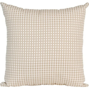 Glenna Jean Central Park Pillow, Tan/White
