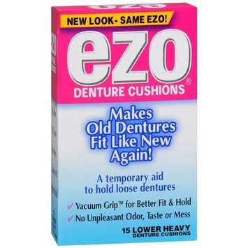Ezo Denture Cushions Lower Heavy 15 EA - Buy Packs and SAVE (Pack of 3)