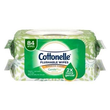 Cottonelle Gentle Plus Flushable Wipes Refill- 2pk/ 84ct